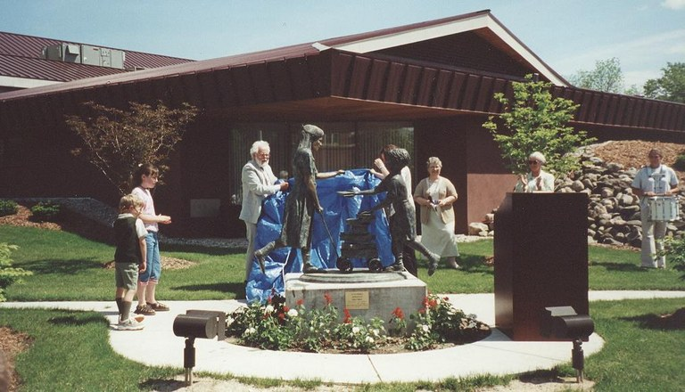 Fremont Area District Library statue reveal.jpg