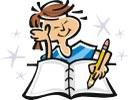 Girl writing stars
