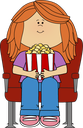 Movie girl popcorn