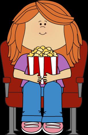 Movie girl popcorn