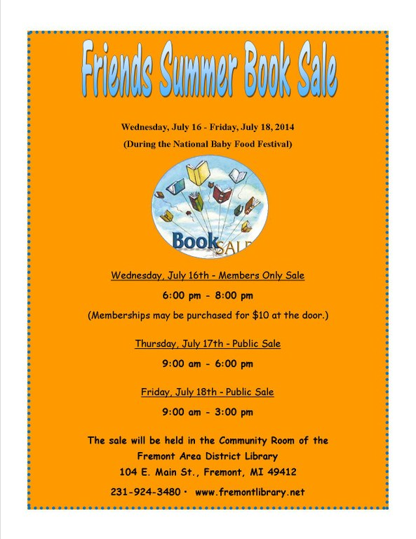 Friends Book Sale Flyer