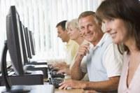 Seniors at a computer class.