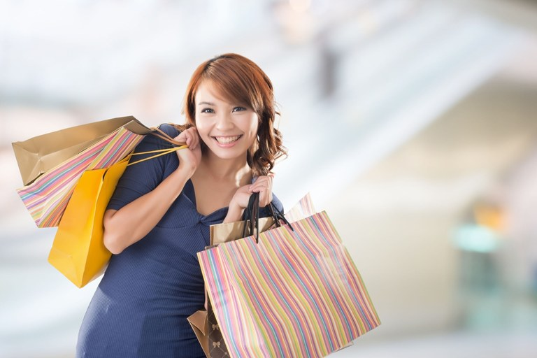 Book Sale Woman Shopping