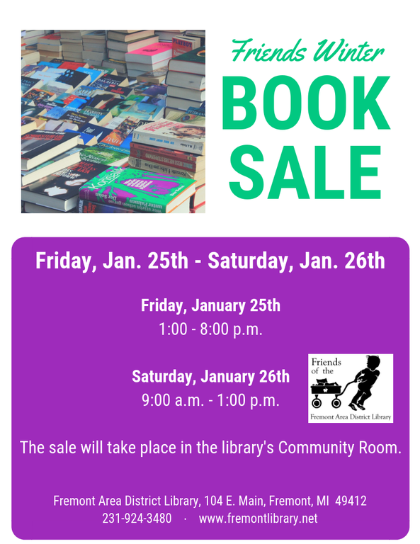 Winter Book Sale Flyer 2019