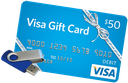 Grand prizes gift card flash drive