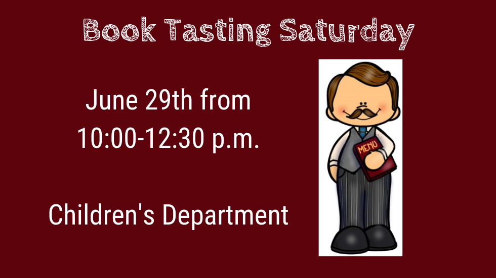 Book Tasting Saturday slide