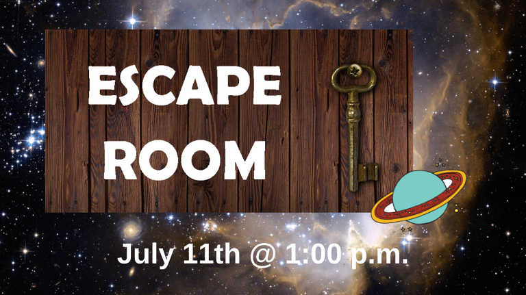 Escape Room 2019 slide
