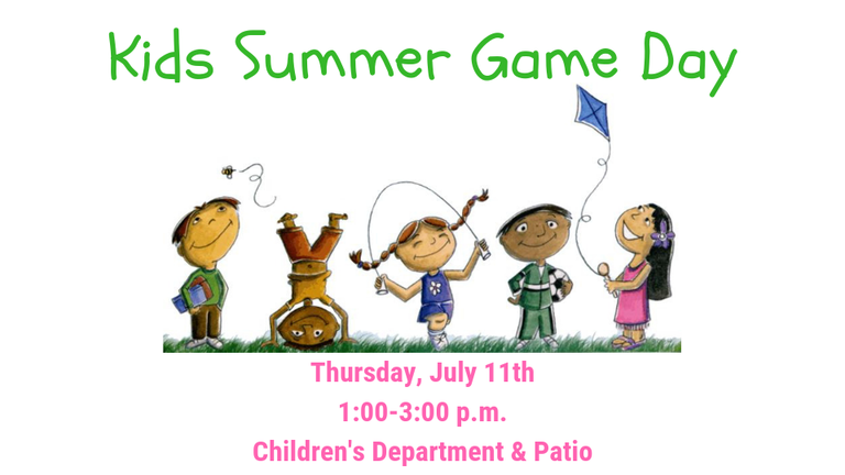 Kids Summer Game Day 2019 slide