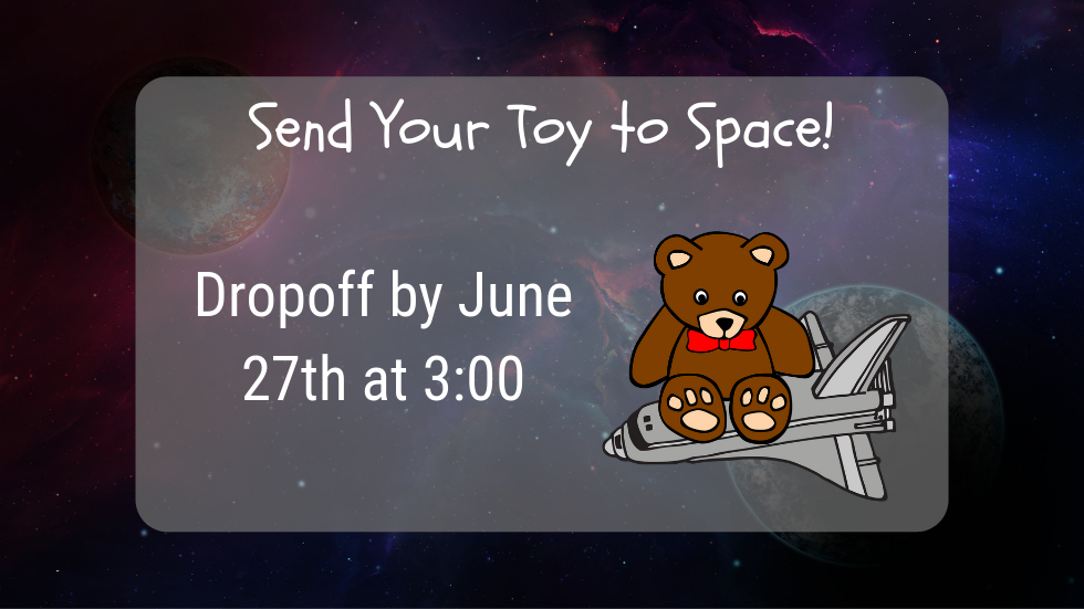 Send Your Toy to Space slide