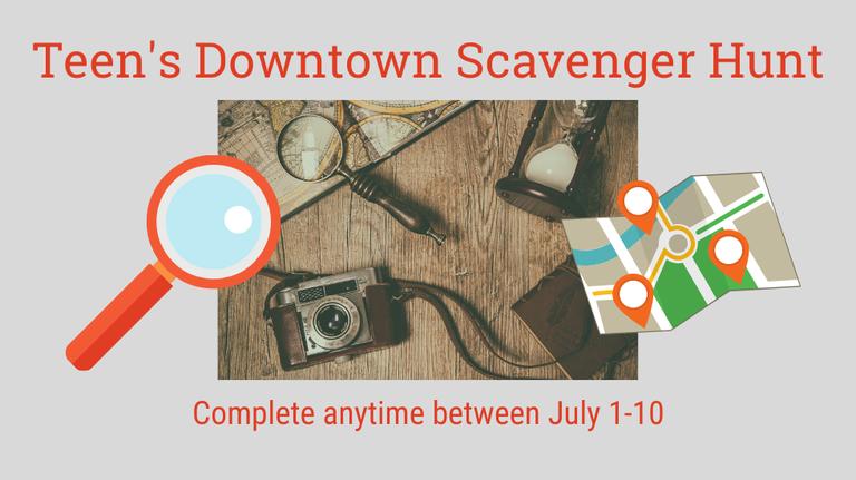 Downtown Scavenger Hunt slide